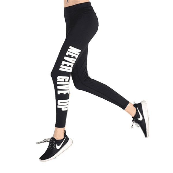 Tight High Waist Letter Laufhose