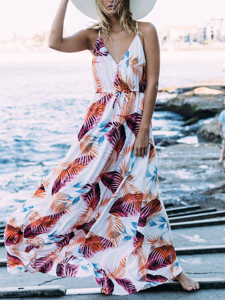 V-Neck Slip Printed Dress
