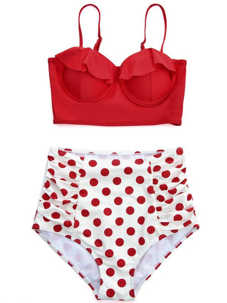 Bikini Buste poitrine buste Vintage Wave Point