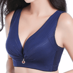 Wireless Antibacterial Adjustable Anti Sagging Silver Fiber Thin Bras
