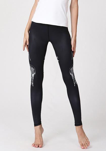 Leggings sagomati stampati di base da donna