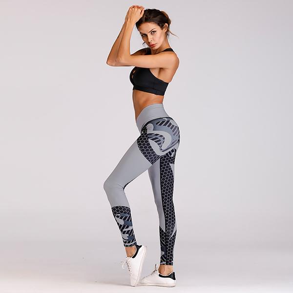 Frauen Hit Farbe Yoga Hosen Sport Leggings