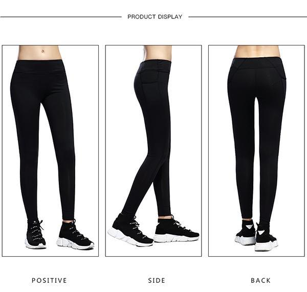 Ultra-soft Skinny Yoga Pants With Pocket-Long Leggings-2ubest.com-2UBest.com