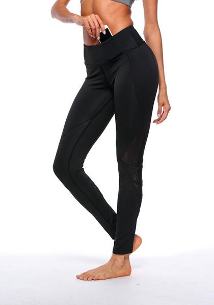 Yarn Stitching High-waisted Yoga Pants