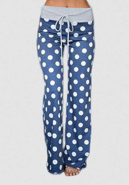 Relaxed Loose Baggy Floral Printed Pants-Long Leggings-2UBest.com-Blue/White-S-2UBest.com