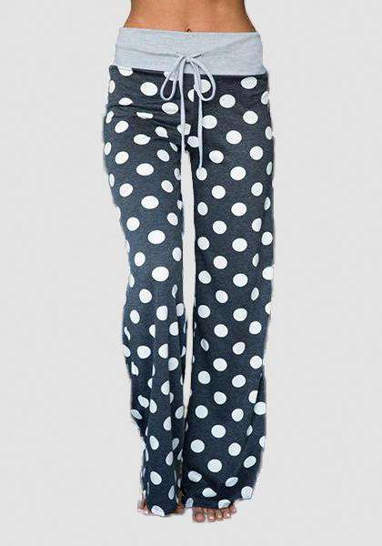 Relaxed Loose Baggy Floral Printed Pants-Long Leggings-2UBest.com-Black/White-S-2UBest.com