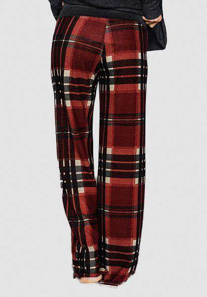 Relaxed Loose Baggy Floral Printed Pants-Long Leggings-2UBest.com-Red/Black-S-2UBest.com