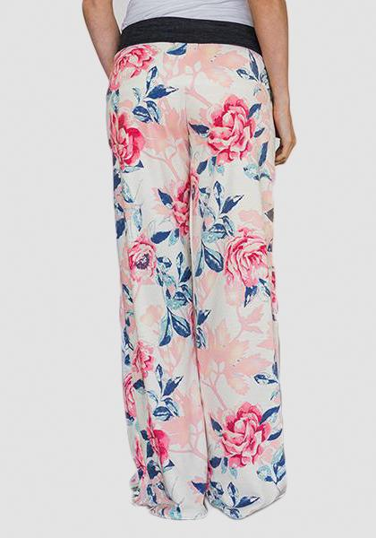 Relaxed Loose Baggy Floral Printed Pants-Long Leggings-2UBest.com-Pink-S-2UBest.com