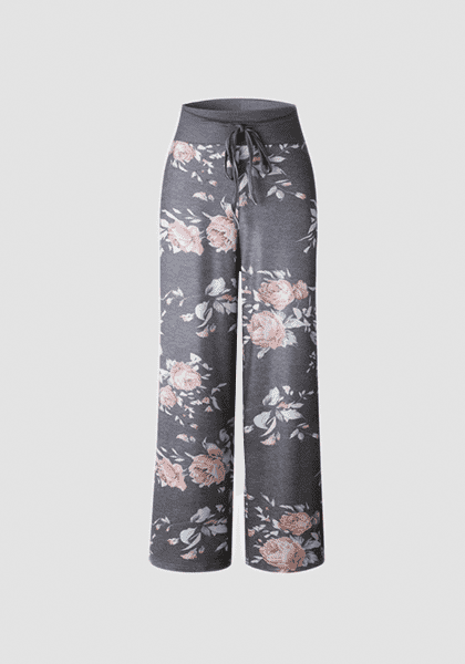 Relaxed Loose Baggy Floral Printed Pants-Long Leggings-2UBest.com-Light Black-S-2UBest.com