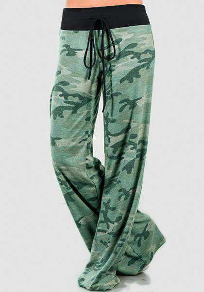 Relaxed Loose Baggy Floral Printed Pants-Long Leggings-2UBest.com-Green-S-2UBest.com