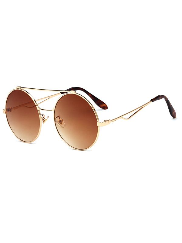 Luxury Round Metal Sunglasses