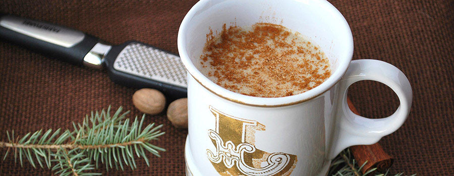 Christmas Cocoa Cappuccino | Eggnog and Coffee Holiday Drink