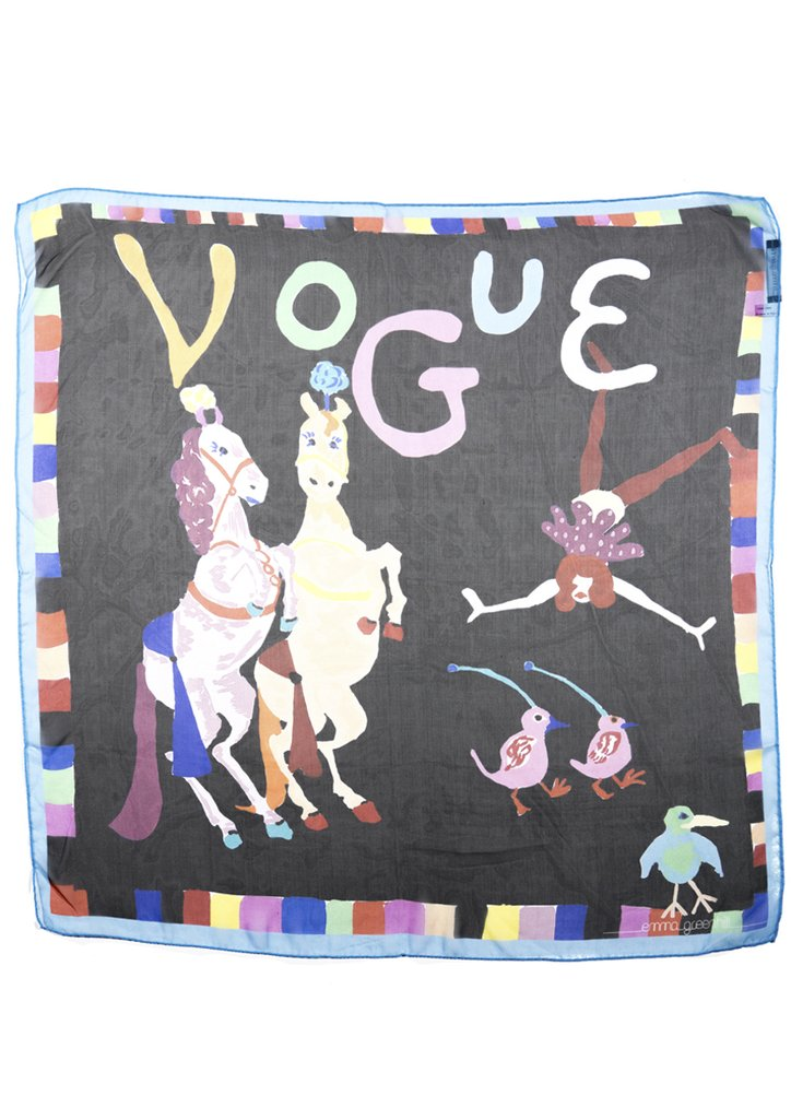 Etta and Vogue Square Silk Chiffon Scarf