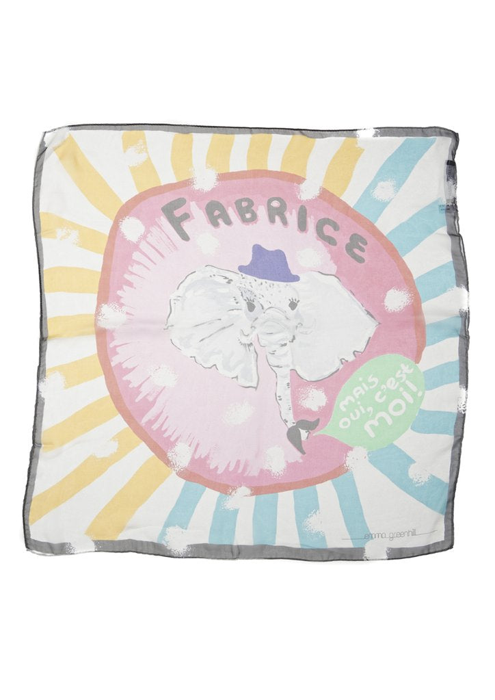 Fabrice - The Elephant Silk Chiffon Scarf