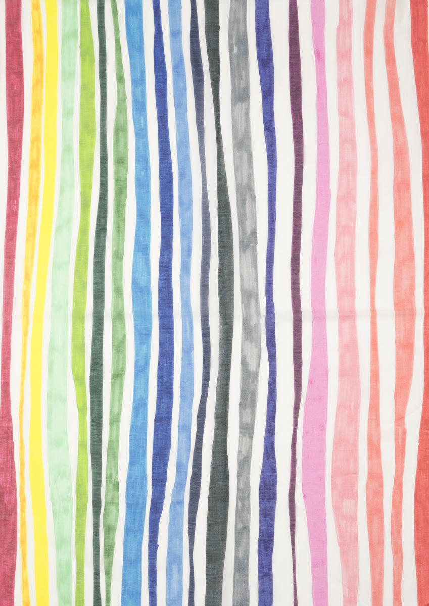 Rainbow Felt Tip Pen Silk Cotton Scarf