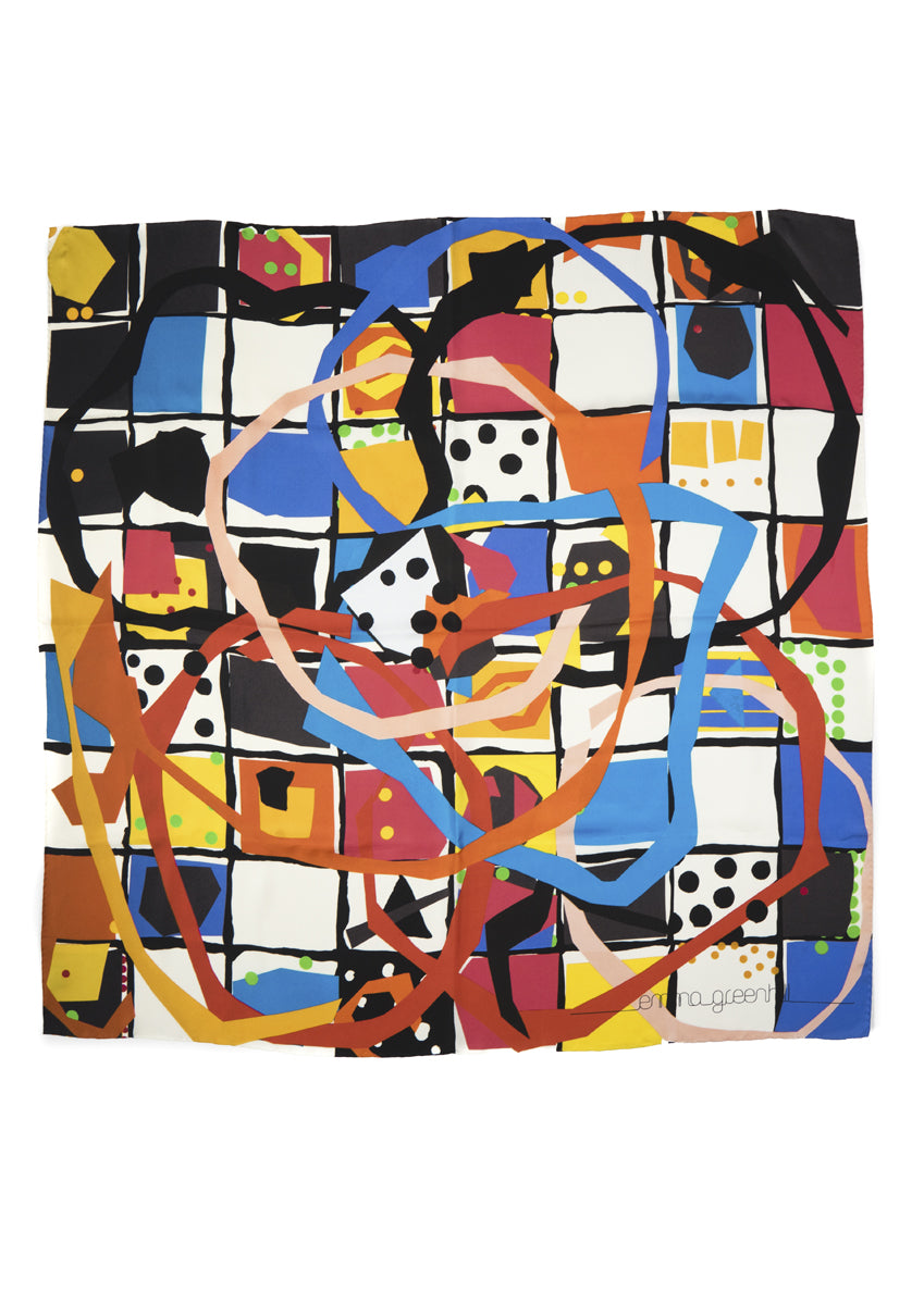 Ready Steady Go Silk Scarf