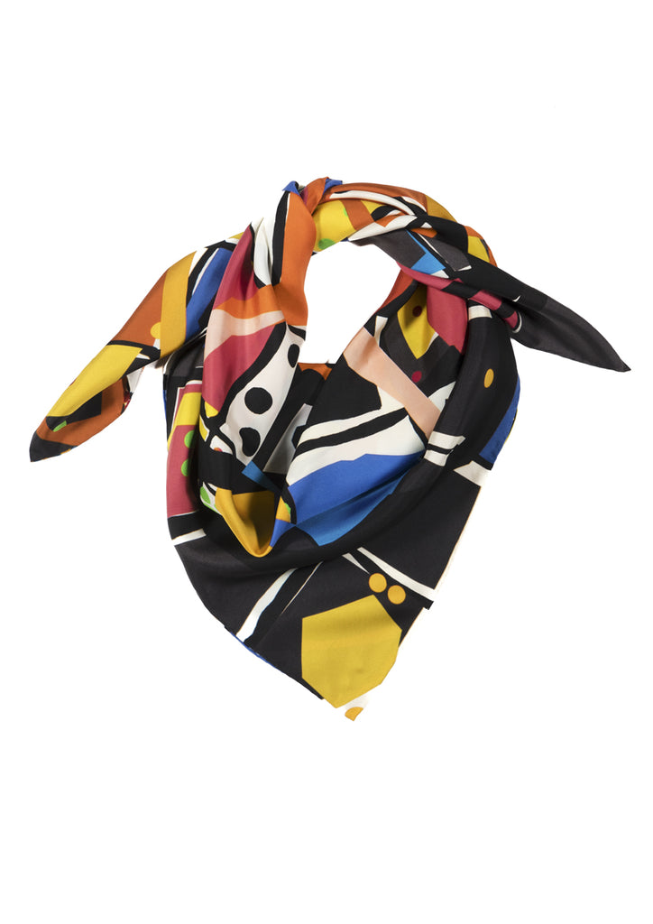 Ready Steady Go Large Silk Scarf