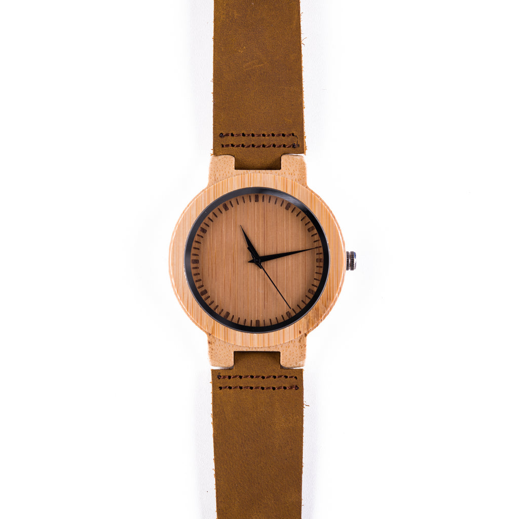 Dundee • Wooden Watch with a Soft Leather Strap