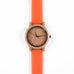 Tango • Wooden Watch with an Orange Silicone Strap