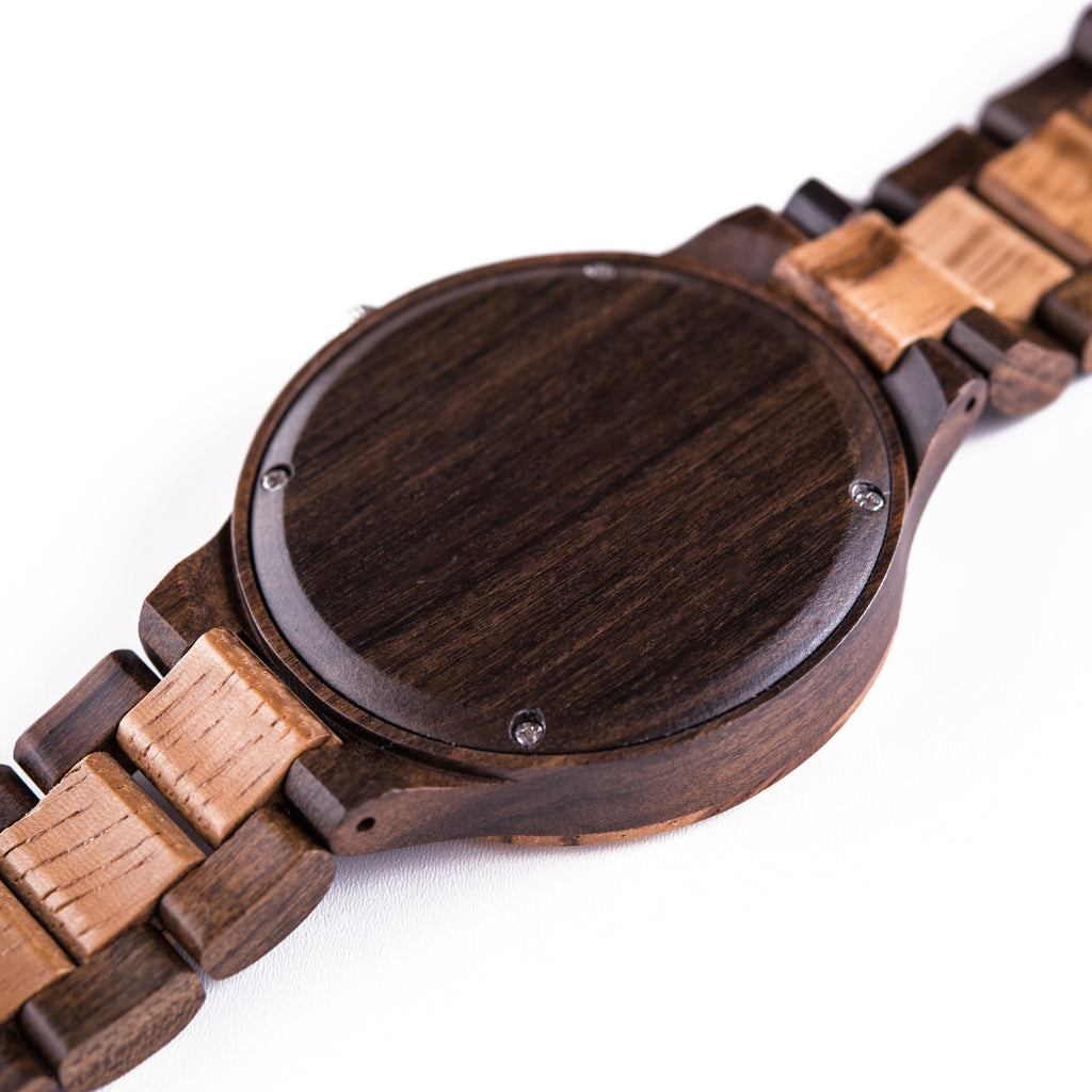 all watch ebony products wooden hut true wood zebrawood watches tree