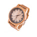 Dune • Wooden Watch with a soft leather strap