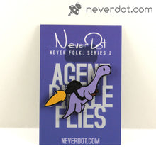 Agent Pickle Flies enamel pin with stunning card back, now with less poison watermelons!