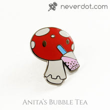 Anita's Bubble Tea enamel pin