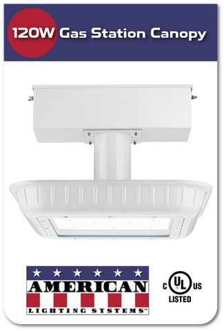 120W LED Gas Station Canopy Light – American Lighting Systems