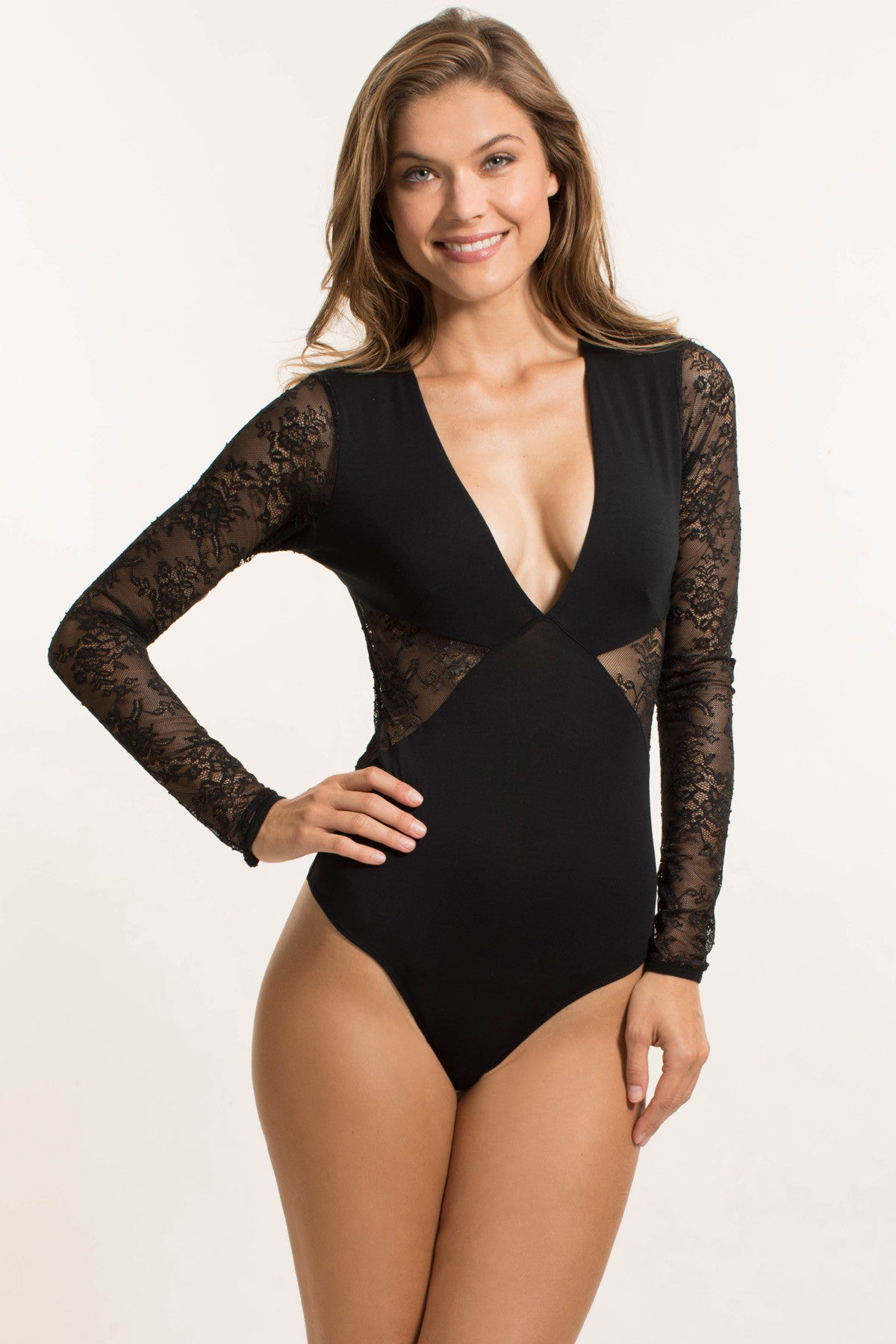 Wynwood Lace Plunge Bodysuit