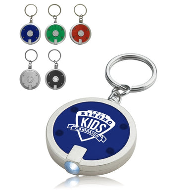 Union Printed, Round Slim LED Flashlight Key Chain-mijuprint-mijubuy-미주프린트-미주바이