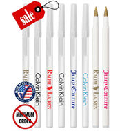 Closeout Certified USA Made White Stick Promo Pen-mijuprint-mijubuy-미주프린트-미주바이