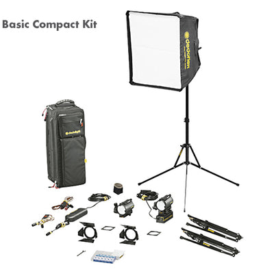 Dedolight Basic 'Compact' Kit, 2 x 24 V / 150 W (DLH4/DLHM4-300E)