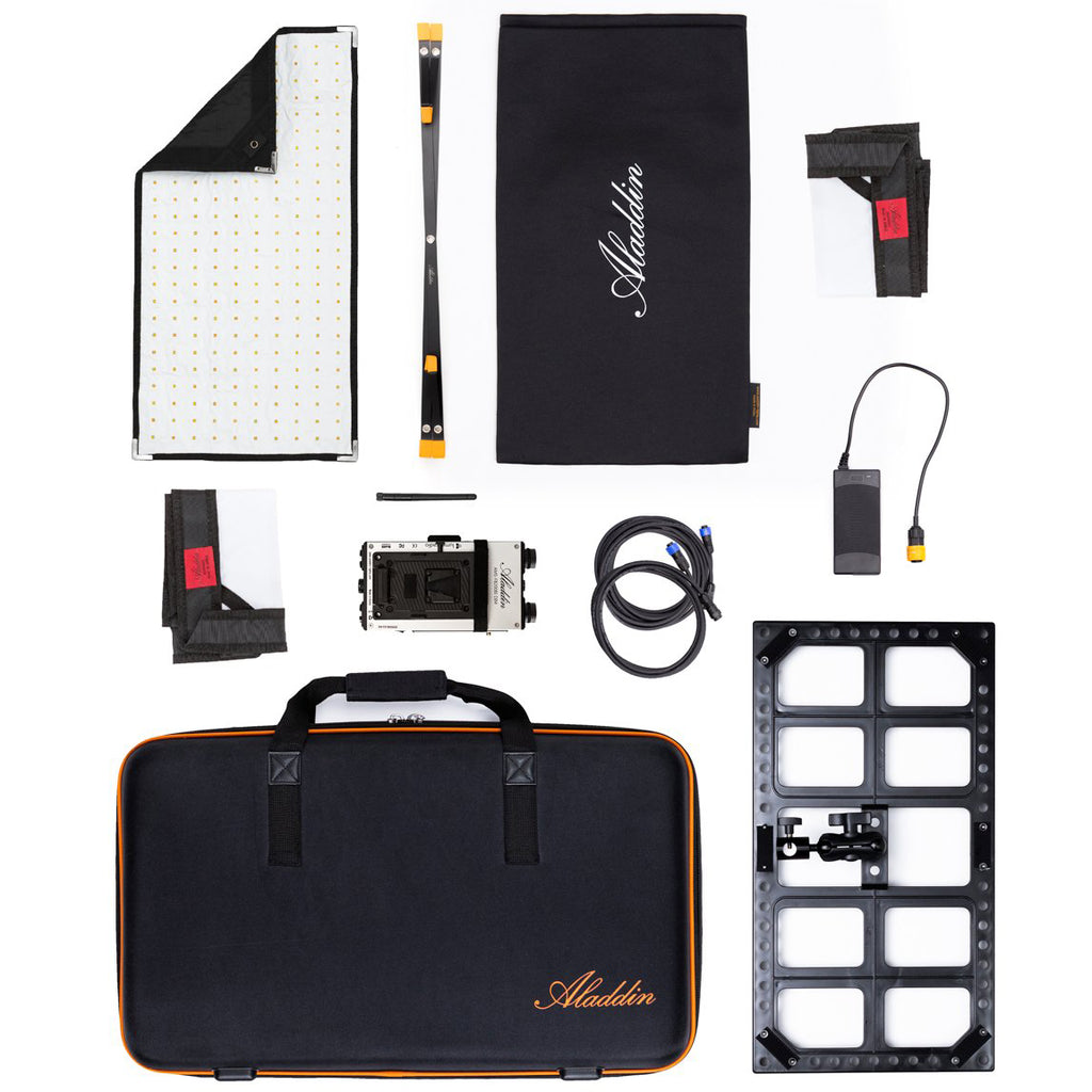 Aladdin BI-FABRIC 2 Kit (100W Bi-Color) w/ V-Mount and Kit Case