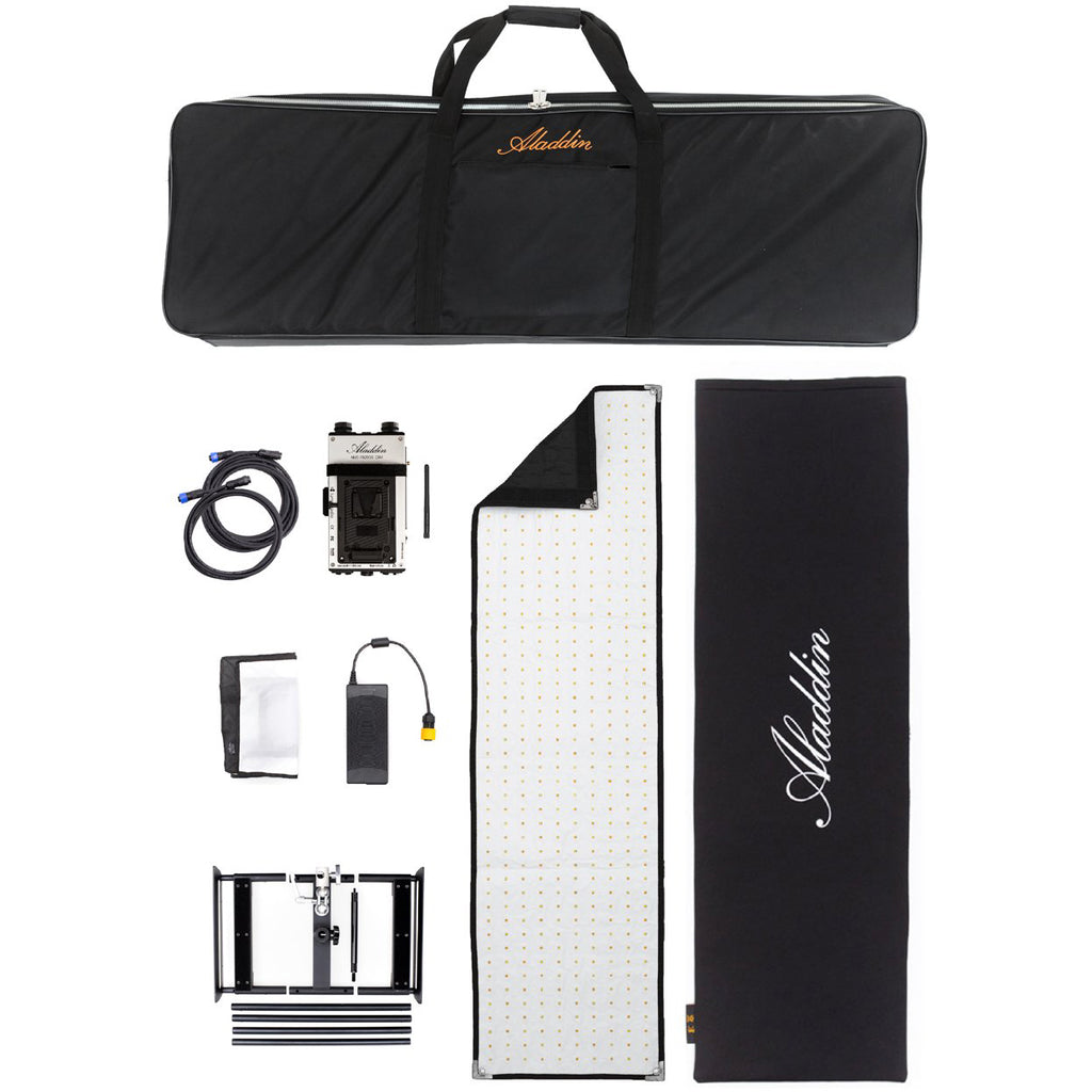 Aladdin BI-FABRIC 4 Kit (200W Bi-Color) mit V-Mount & Kit Case