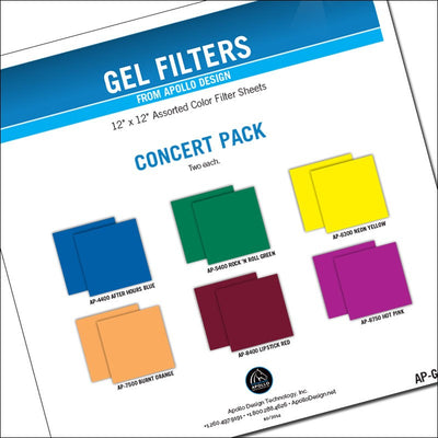 "ApolloDesign Concert Gel Pack 12x12"" Sheets"