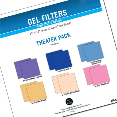 "ApolloDesign Theater Gel Pack 12x12"" Sheets"