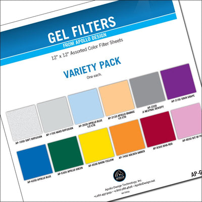 "ApolloDesign Variety Gel Pack 12x12"" Sheets"