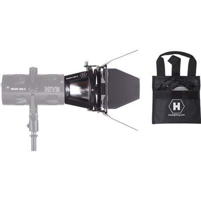 Hive Lighting - Par Reflector Attachment, Barndoors and 3 Lens Set (Medium, Wide, Super Wide) w/ Bag for BEE 50-C, WASP 100-C