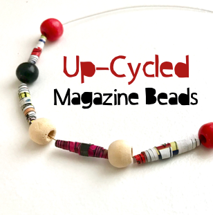 Up-Cycled Magazine Beads