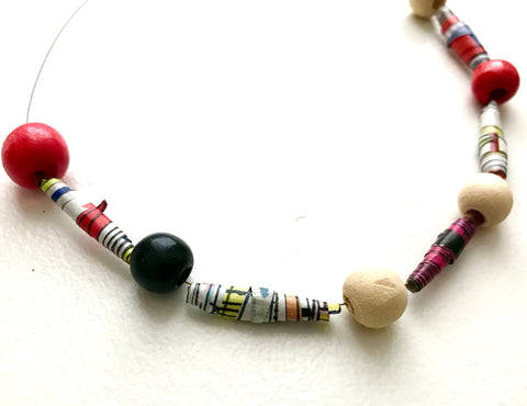 Magazine Bead Necklace