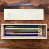Lightweight Wood Pencil Box