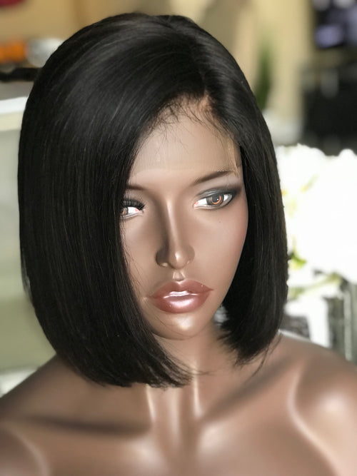 Short Blunt Cut Bob - Lace Closure