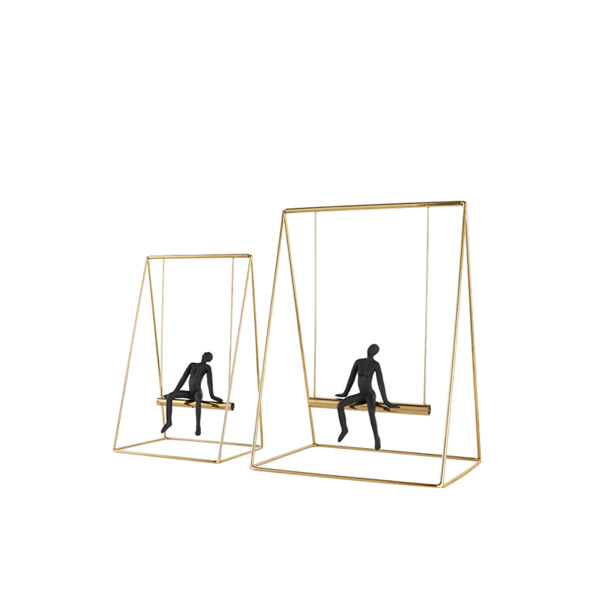Man on Swing - objects of interest
