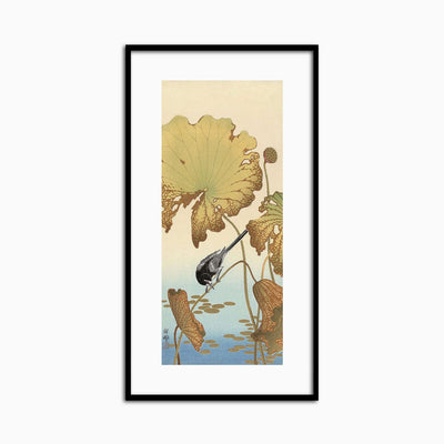 Japanese Wagtail on Lotus Plant, 1925-1936 - Objects of Interest