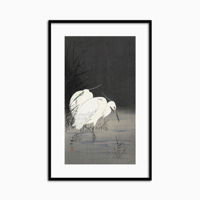 Two Egrets in the Reeds, 1900-1930 - Objects of Interest
