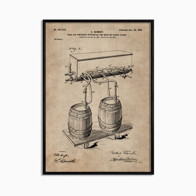 Patent Document of a Cold Air Pressure Apparatus for Beer - Objects of Interest
