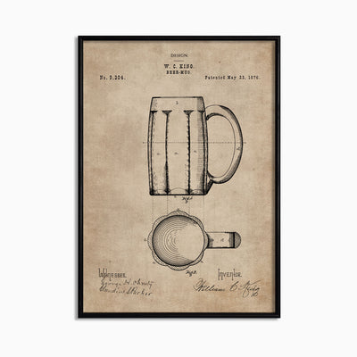Patent Document of a Beer Mug - Objects of Interest