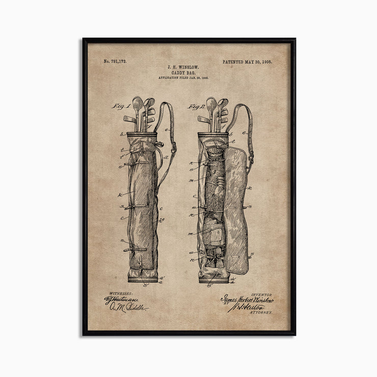 Patent Document of a Caddy Bag - Objects of Interest