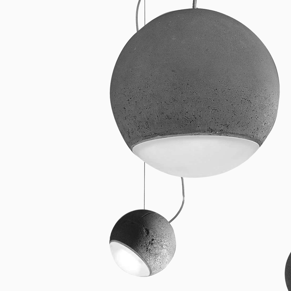 Concrete Spherical Pendant - objects of interest