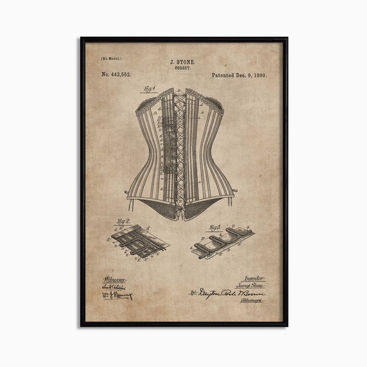 Patent Document of a Corset - Objects of Interest